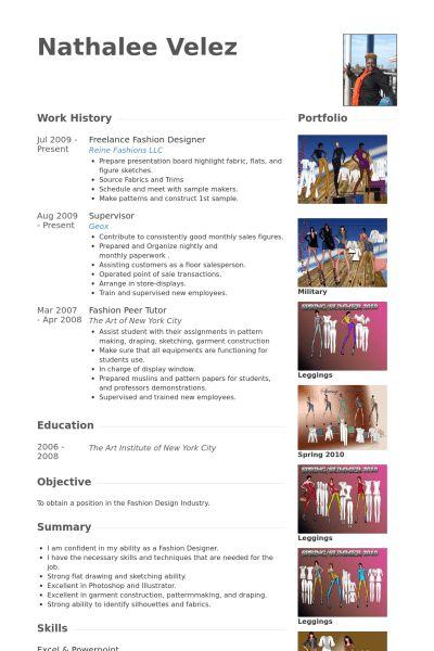 Fashion Designer Resume samples - VisualCV resume samples database