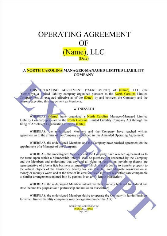 Operating Agreement LLC CRE Partnership: REALCREFORMS
