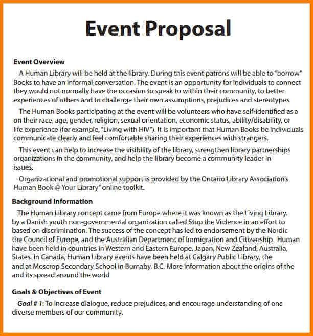 4+ event proposal letter | Proposal Template 2017