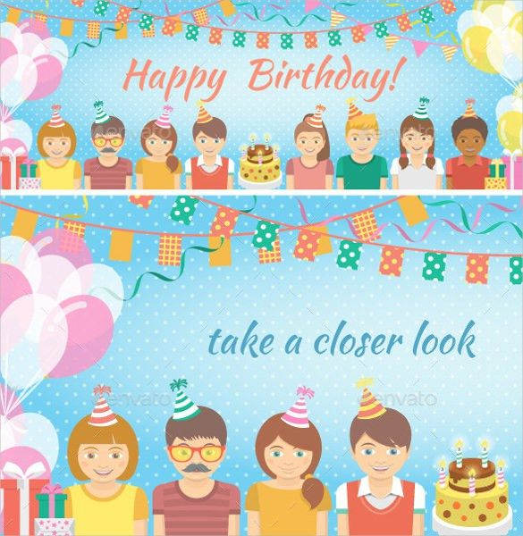 Birthday Invitation Template. Elegant Animated Kids Birthday ...