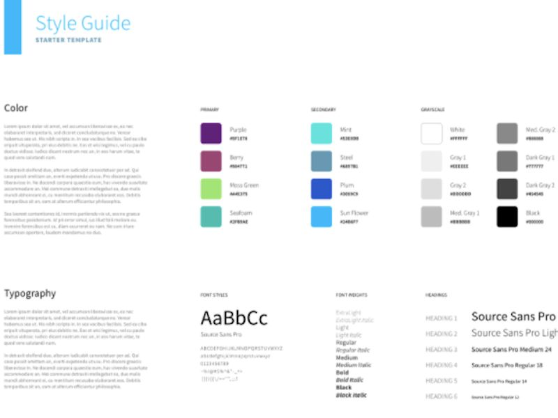 Free Adobe XD Style Guide Template - PSDDD.co