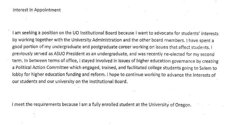 UO Trustee Sam Dotters-Katz blames Professor Harbaugh for the Duck ...