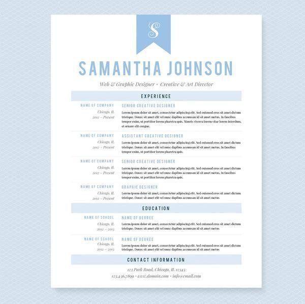 Baby Blue Web Designer CV Resume, Cover Letter & References ...