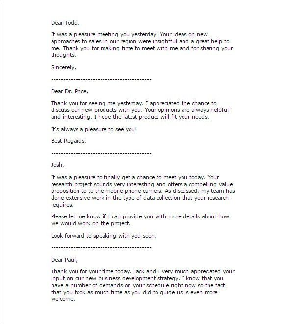 Business Thank You Letter – 12+ Free Sample, Example Format ...