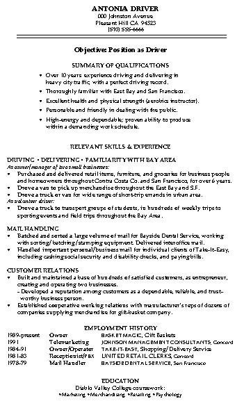 Warehouse Worker Resume Objective Examples | Template Design