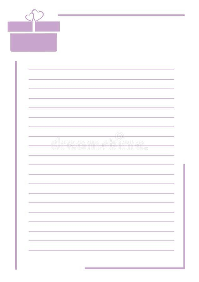 Vector Blank For Letter Or Greeting Card. White Paper Form With ...