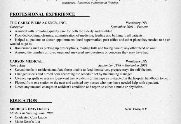 resume sample for a caregiver. caregiver sample resume 27042017 ...