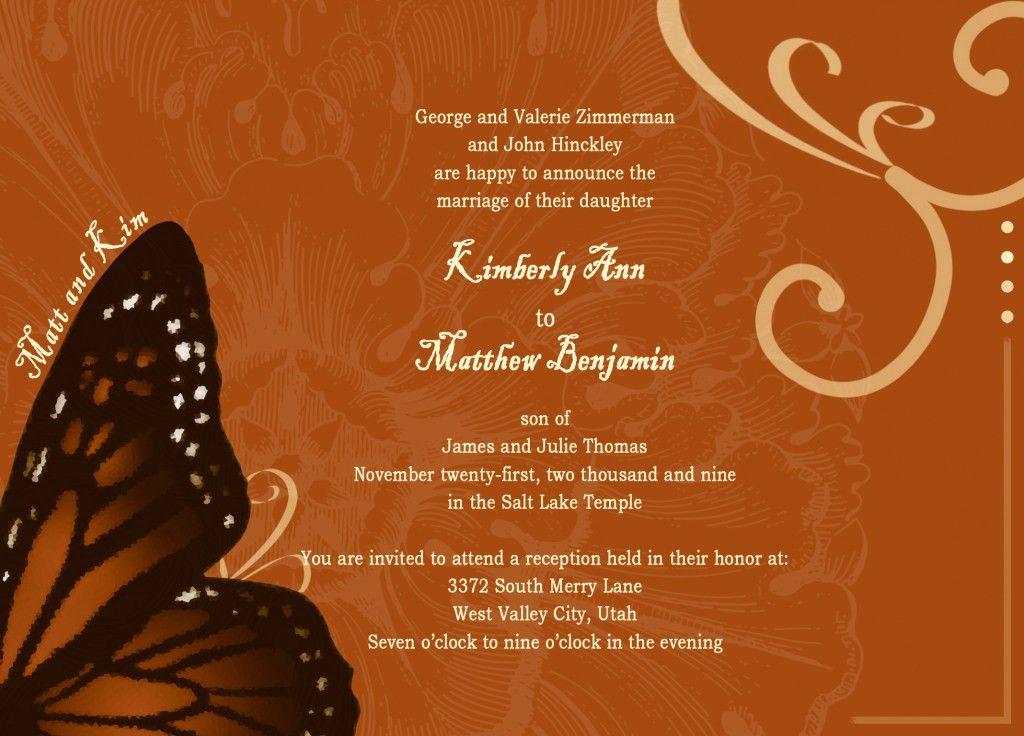 wedding card format in english muslim Archives - INVITATION CARD ...