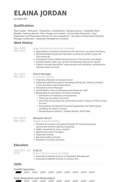 server job description 47 fresh images of server resume samples