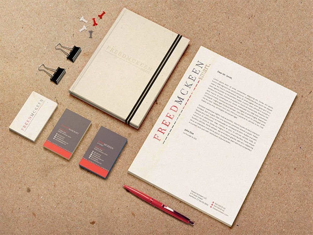 Deluxe Stationery Design Package - Custom Letterhead, Compliments ...