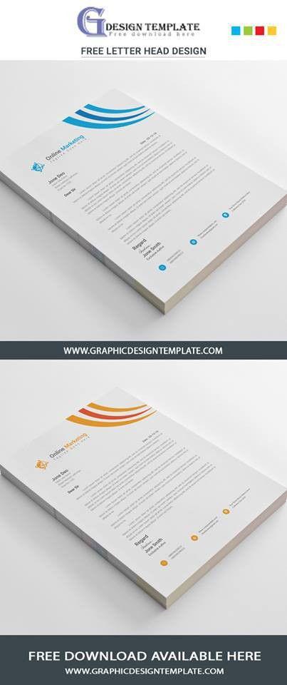 Free letterhead templates Download   Print ready Ai & EPS Files free