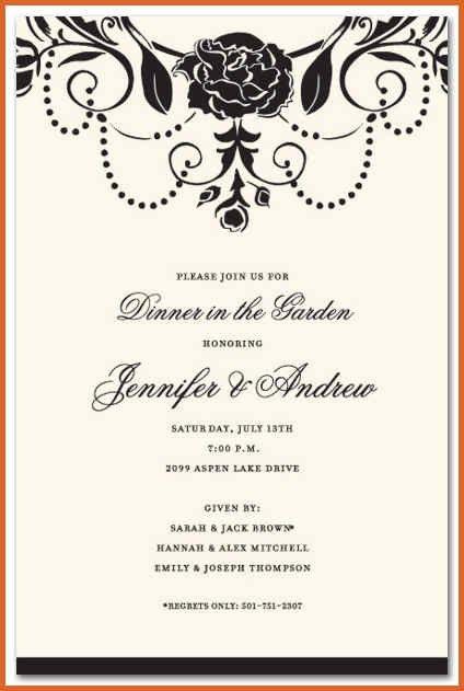 formal invitation template | resume name