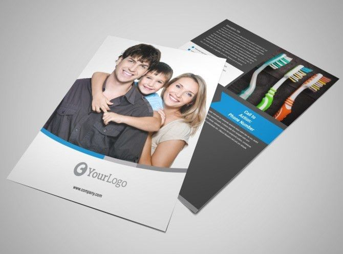 Clean Dental Care Flyer Template | MyCreativeShop