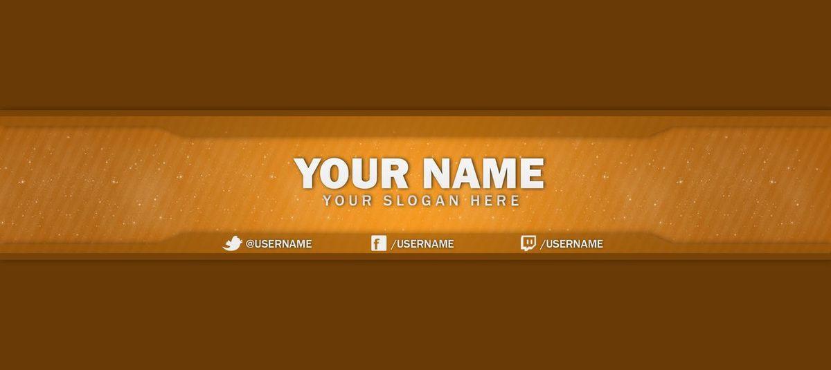 Clean orange one channel youtube banner | Josh Harris - Sellfy.com