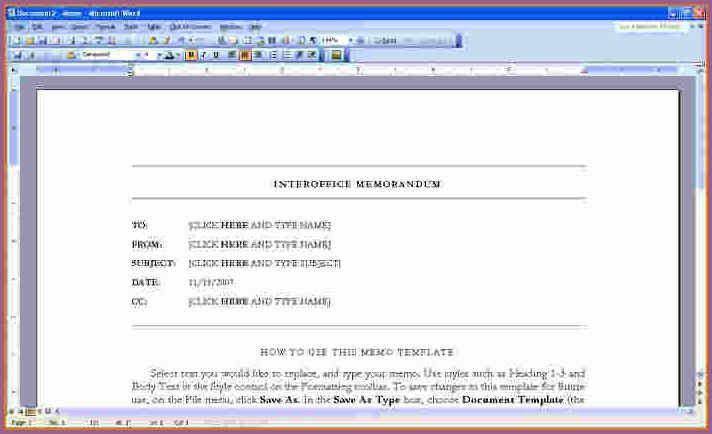 memorandum templates for word