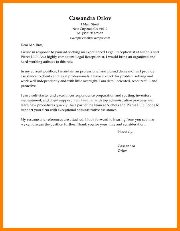 8+ cover letter receptionist | billing clerk resume