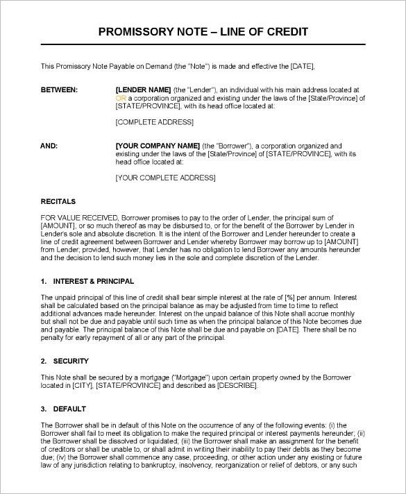 Note Template – 41+ Free Word, Excel, PDF Format Download! | Free ...