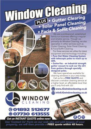Modern, Elegant Flyer Design for JG Window Cleaning by alex989 ...