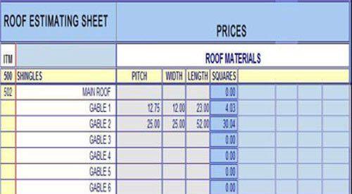 Estimate Sheet. Quantity-Take-Off Sheets Bid Form | Estimate ...