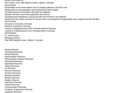 nursing resume objective icu icu nurse resume best sample resume ...