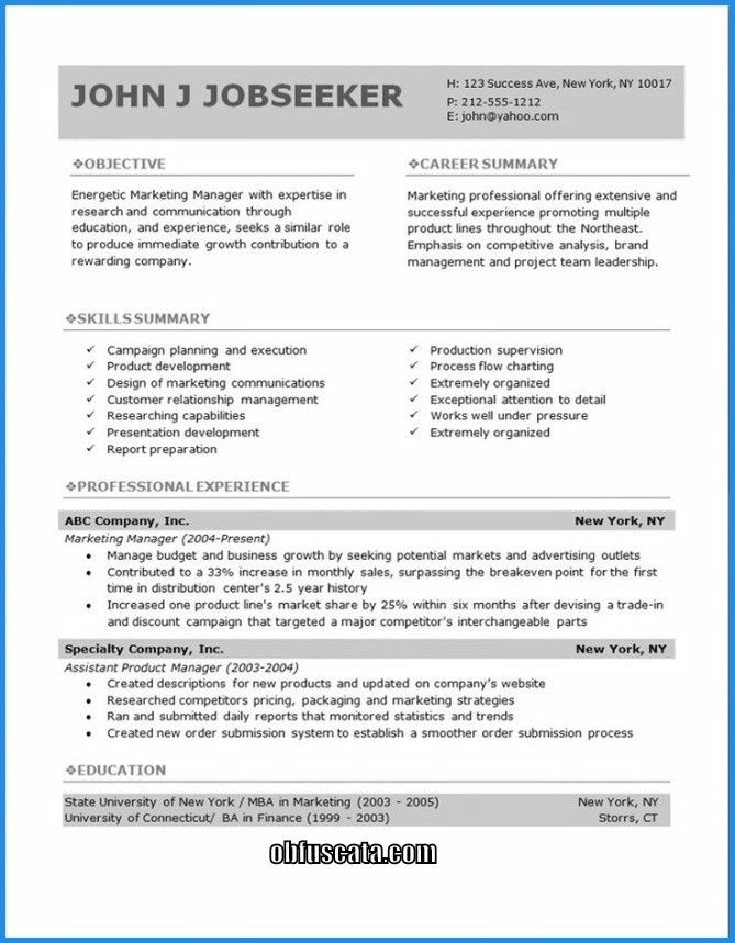 does openoffice have resume templates