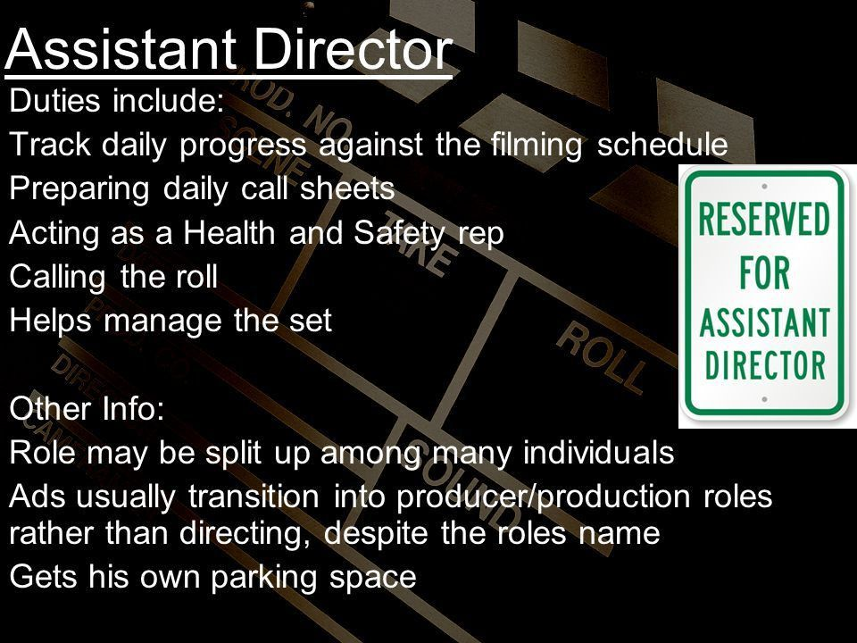 Production Team Roles and Duties - ppt download