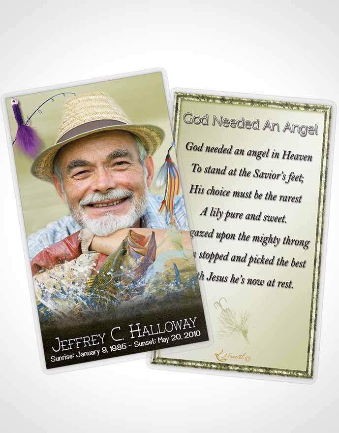 2 Page Grad Fold Funeral Program Template Brochure Golden Waters ...
