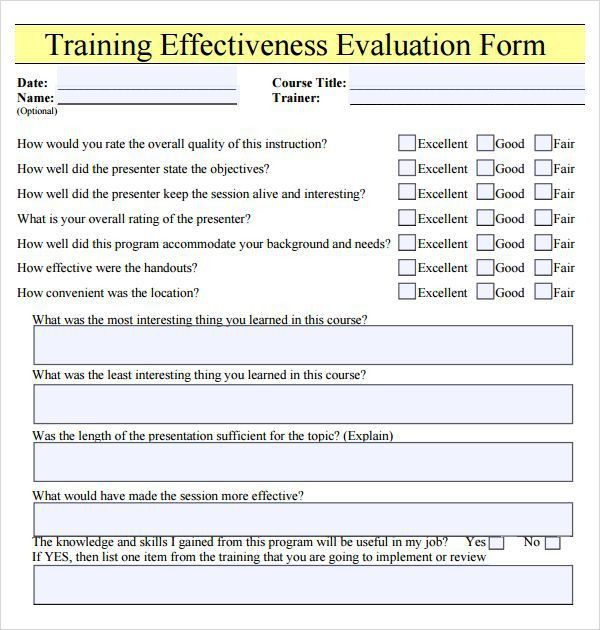 Trainer Evaluation Form. The Performance Appraisal Conversation ...