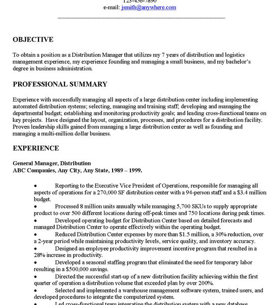 Exclusive Examples Of Resumes Objectives 4 Project Manager Resume ...