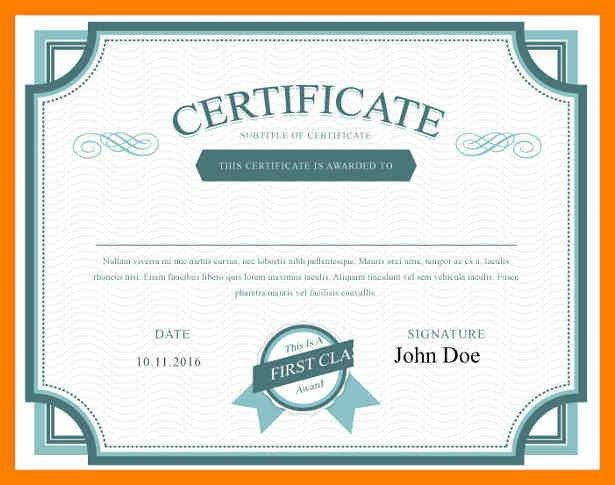 Stock Share Certificate Template. 7 share certificate template ...