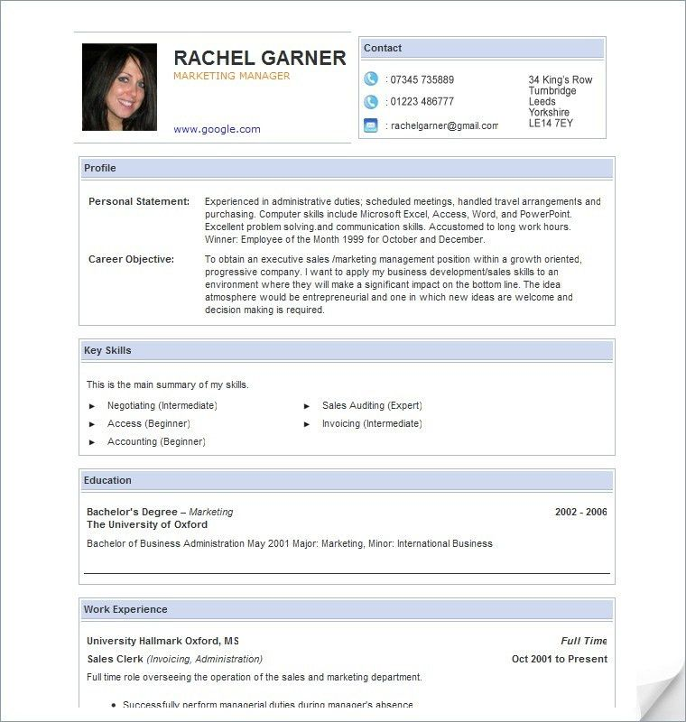 Resume Examples. amazing 10 design simple layout online free ...