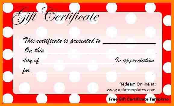 Gift Voucher Templates Word. the 25 best free gift certificate ...