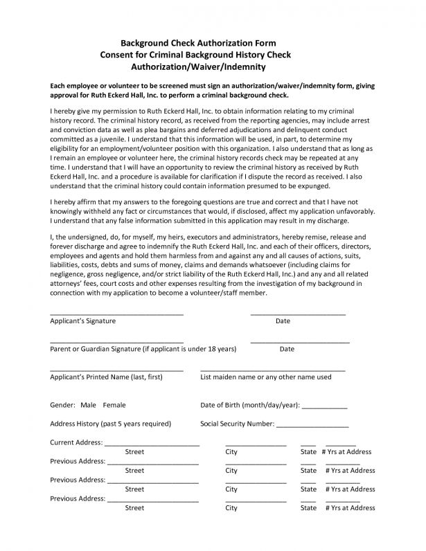 Checks Template Background Check Consent Form For Employment ...