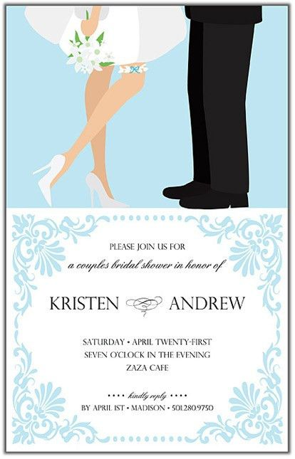 love birds couples bridal or wedding shower invitation uprint ...