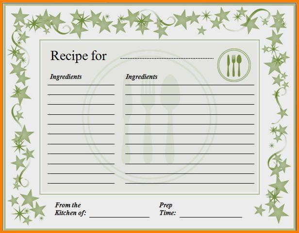 Recipe Card Template For Word.897814f270fd0a0e79134c22fd542cd4e283 ...