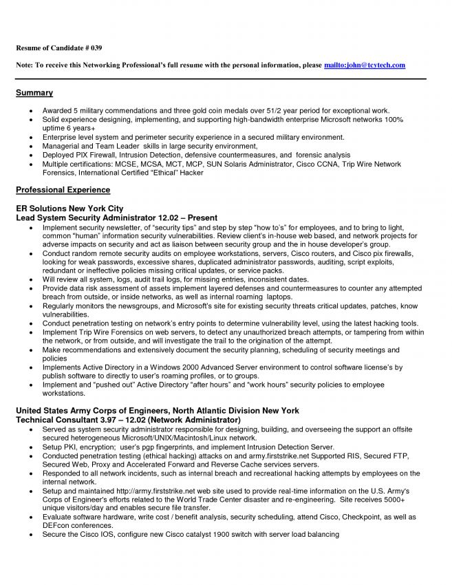11 Junior Network Engineer Resume Resume entry level network ...
