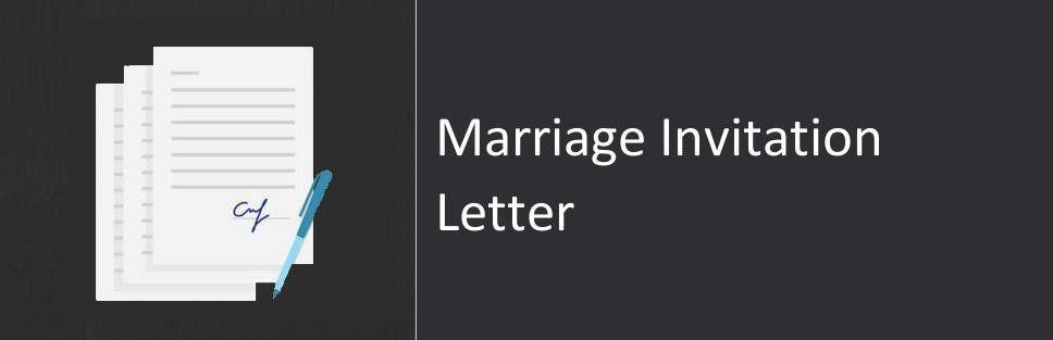 Marriage Invitation Letter, Sample & Format