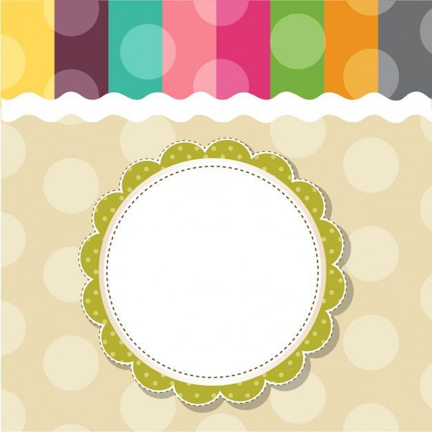 Childish template frame design for greeting card Vector | Free ...