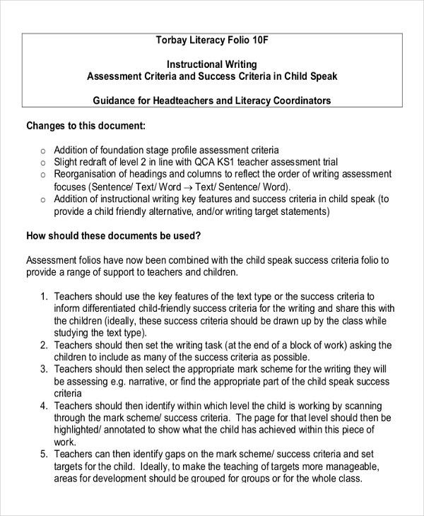 Writing Instruction Templates - 6+ Free Word, PDF Document ...