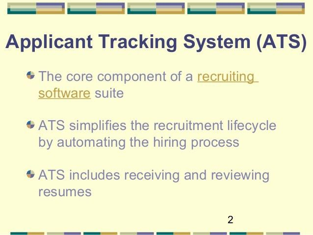 Optimize Your Resume for Applicant Tracking Systems - 2016