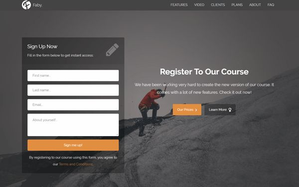 landing page themes | WrapBootstrap