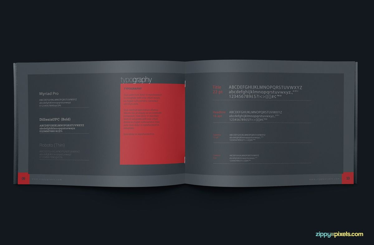 Brand Book Template for Corporate Guidelines | ZippyPixels