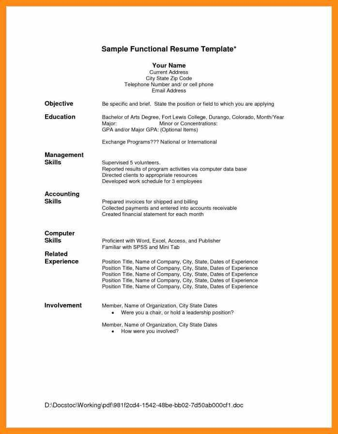 Resume Sample – abstract sample