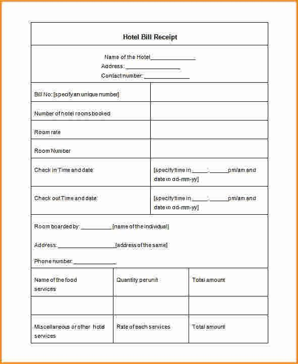 10+ hotel receipt template | Invoice Template Download