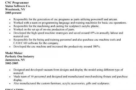mechanical resume samples template mechanical resume samples. cnc ...