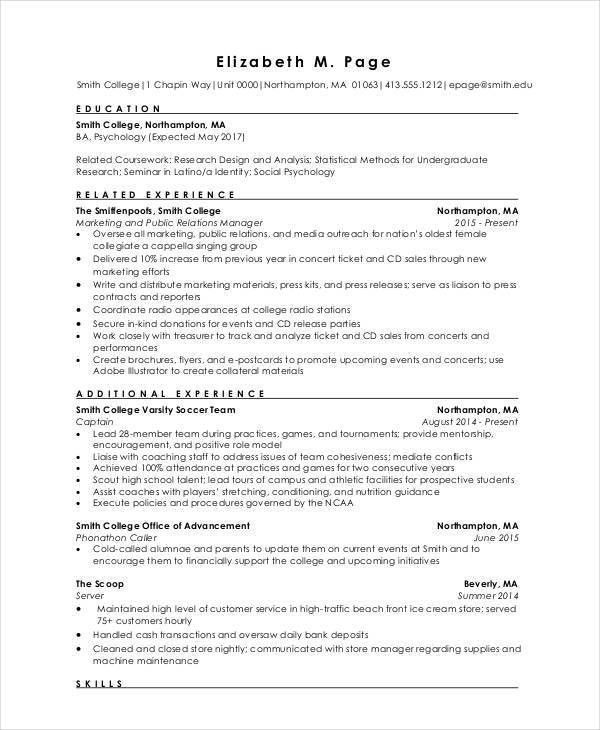 Fresher Engineer Resume Templates - 6+ Free Word, PDF Format ...