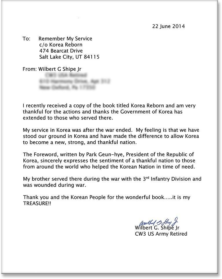 Letters To Veterans Examples   The Best Letter Sample