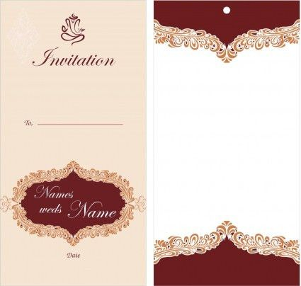 Remarkable Wedding Invitation Card Design Template Free Download ...