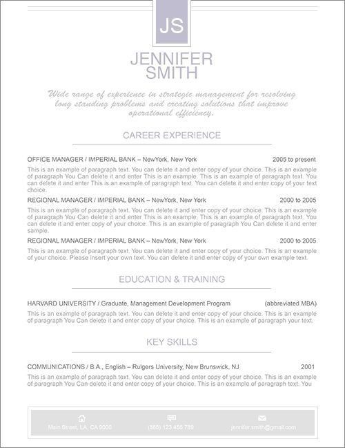 Elegant Resume Templates