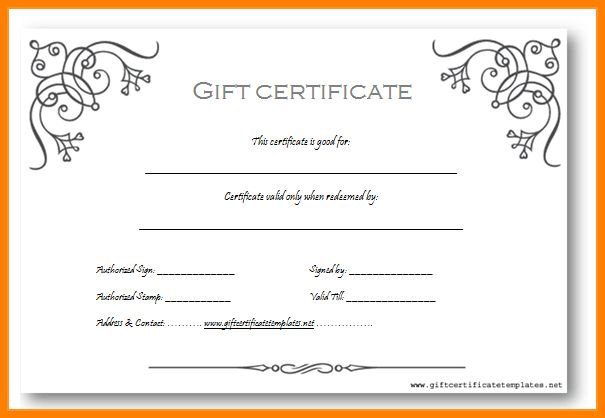 Gift Coupon Template Word  SaveBtsaCo